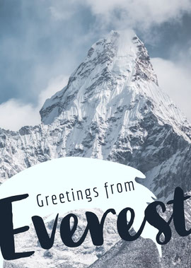 Mount Everest Postcard with Snowy Mountain Postcard