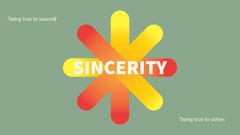 Green and Orange Inspirational Sincerity Desktop Wallpaper Background