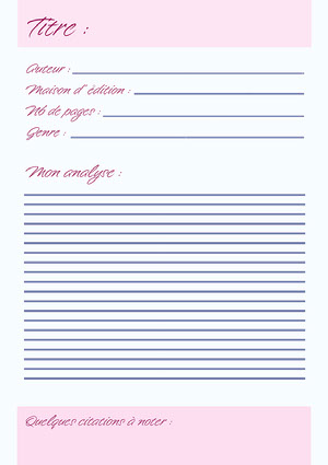 pink navy book review - worksheet Book Review