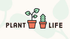 Illustrated House Plant Twitter Post Graphic Plants
