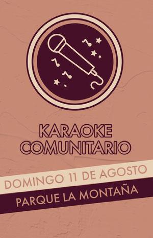 karaoke event poster Cartel de evento