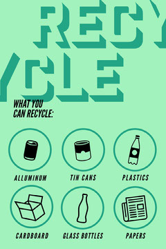 Green What You Can Recycling Icons Pinterest Green