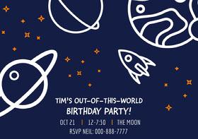 BIRTHDAY PARTY! Birthday Invitation (Boy)