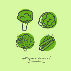 Green and Black Vegan Greens Instagram Story Vegan
