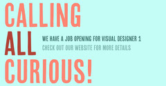 Cyan and Orange Job Opening Facebook Post Graphic Career Poster