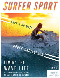 Yellow With Man Surfing Surfer Sport Magazine Cover Surfing