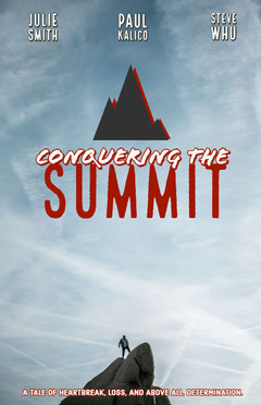 Blue, Red and White, Adventure Movie Poster Mountains