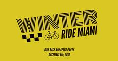 Yellow and Black Winter Facebook Advertisement Bike
