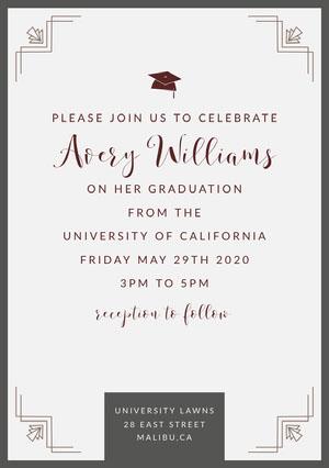 graduation invite Karte zum Schulabschluss