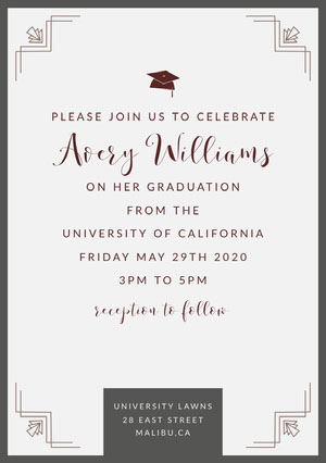 graduation invite Tarjeta de graduación