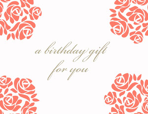 Elegant Floral Birthday Coupon Bon