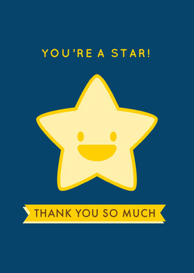 you're a star! Thank You Card