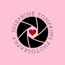 pink wedding photography logo Logo