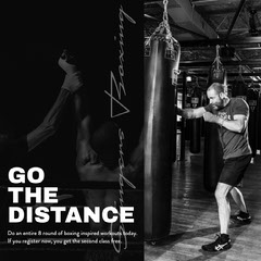 Black and White Boxing Training Ad Instagram Post Boxing