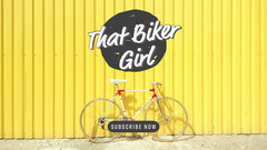Black & Yellow That Biker Girl Youtube Thumbnail Bike