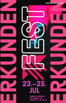 explore fest poster Poster