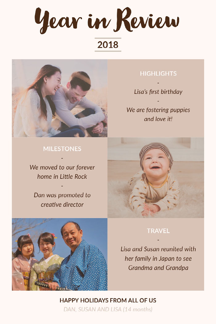 Pink With Family Portraits Year In Review Pinterest Happy Birthday Card Ideas