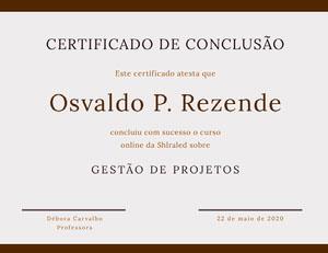 Osvaldo P. Rezende Diploma