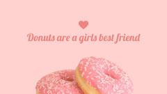 Pink Feminine Donut Desktop Wallpaper Background