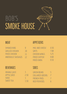 SMOKE HOUSE  BBQ Menu