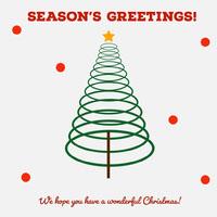 season's greetings tree igsquare  Weihnachtskarte