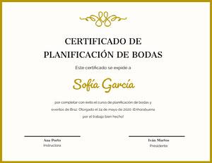 Sofía García Certificado