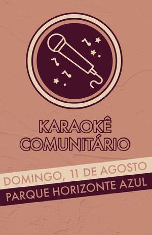karaoke event poster  Pôster de evento