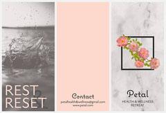 Grey & Pink Floral Health & Wellness Brochure Spa