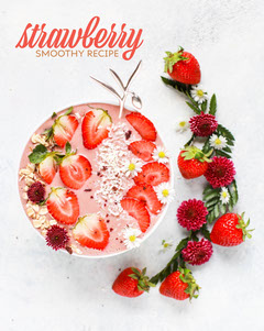 strawberry smoothy instagram portrait  Recipes