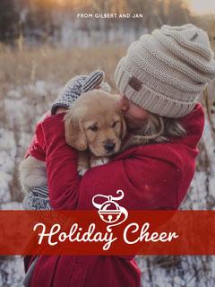 Red, White, Light Toned Christmas Card Christmas