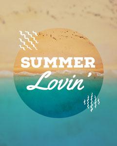 Blue & Sand Summer Lovin' - Generic - Instagram Portrait Summer