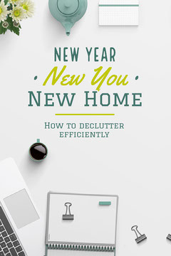 White And Green Notebook New Year Decluttering Pinterest Post Cleaning Service