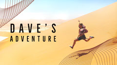 Yellow and Blue Man's Adventure Blog Desert