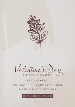Valentine's Day Dinner Party Invitation Pride