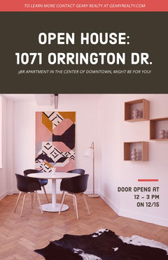 OPEN HOUSE:<BR>1071 ORRINGTON DR. Open House Flyer