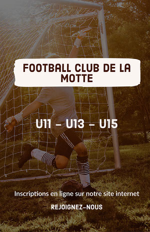 White - Football Club Poster  Prospectus de club