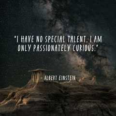 White and Black Albert Einstein Quote Instagram Square  Desert