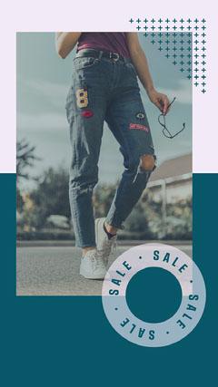 Purple & Teal Jeans Street Fashion Instagram Story Fashion
