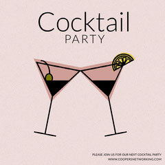 Pink Illustrated Cocktail Party Instagram Post Cocktails