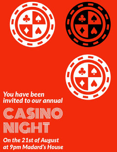 CASINO <BR>NIGHT Game Night Flyer