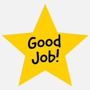 yellow good job star sticker Sticker Maker