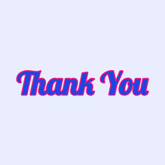 Pink Blue Thank You Note Instagram Square Thank You Poster
