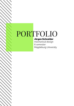 Green and White Mechanical Engineer Portfolio Front Page  Portafolio online