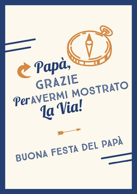 compass  Father's Day cards Biglietto di ringraziamento