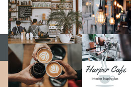 Cafe Interior Design Inspiration Mood Board Montage photo