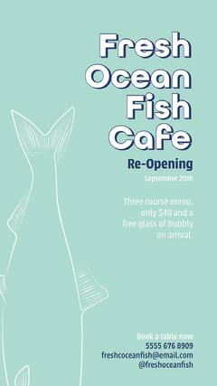 Green Blue Fresh Ocean Fish Instagram Story Restaurants