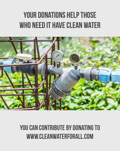 Clean Water Instagram Portrait Donations Flyer