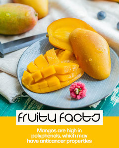 Yellow Mangos Fruity Facts IG portrait Cooking