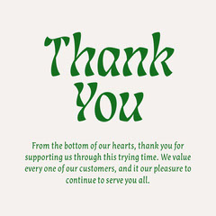 Green Decorative Customer Appreciation Thank You Letter Marketing