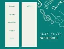 White and Green Empty Schedule 일정